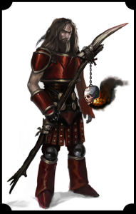 Image of an armored medieval magic-user