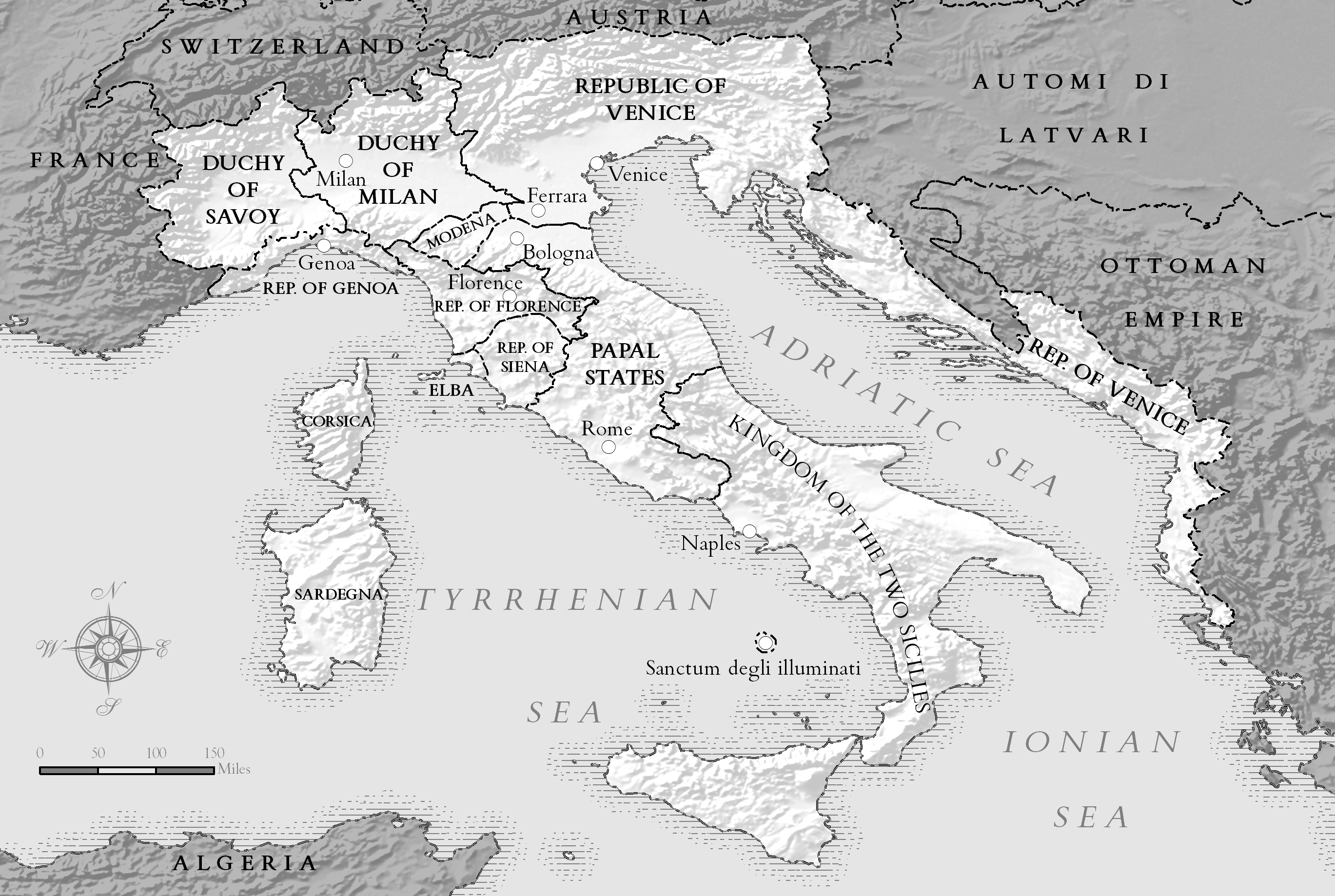 Map of Alternate-History Italy